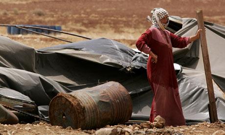 A Palestinian bedouin woman