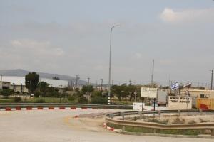 Ingresso alla base militare delle Forze Israeliane di Occupazione sulla strada di Allon