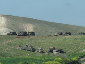 Esercitazione militare israeliana vicino ad Al Farisiya, aprile 2012