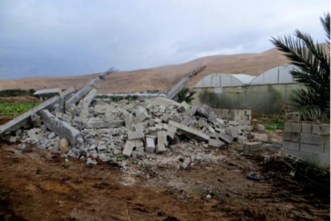 Demolizione di case ad Al Jiftlik.