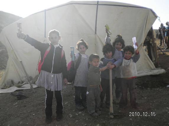 Ein el Hilwe tent school