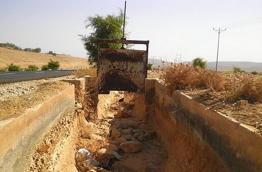 Al Auja spring completely dry as a result of Israeli water wells
