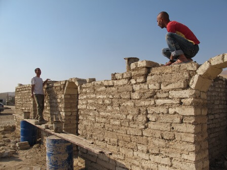 Mud bricks in Fasayil al-Fauqa