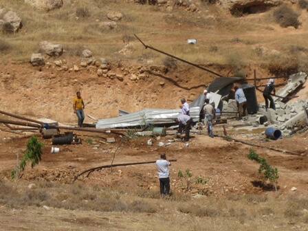 Home demolition near al-Farisiya