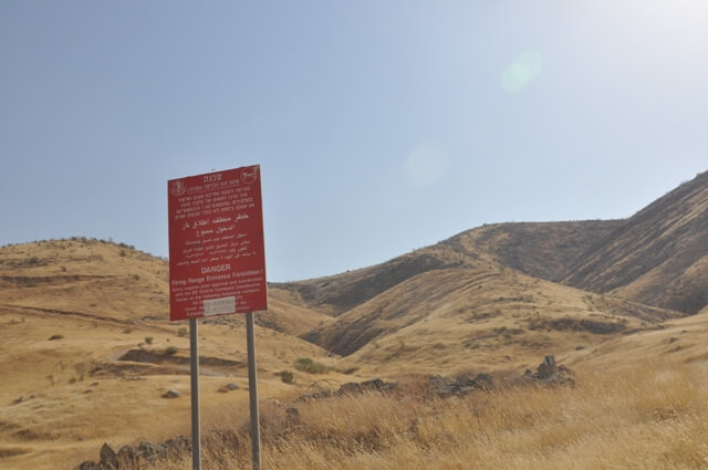 'Danger firing area' sign
