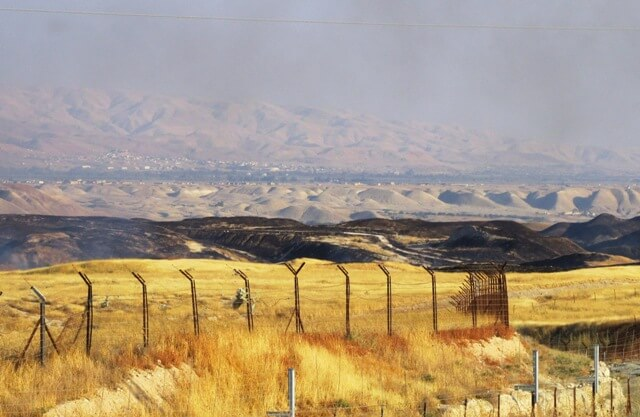 Fire started by Israeli military in Jordan Valley 12th June 15