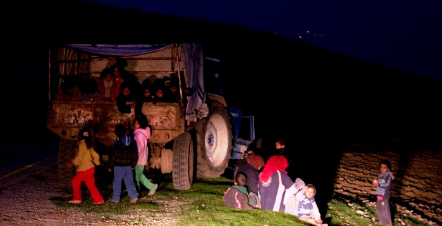 Family evacuated from Al maleh to make way for military training 2nd January 2013