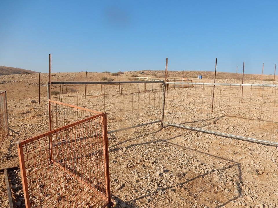 Palestinian land fenced off to be part of colony