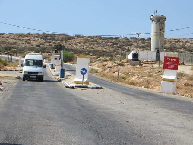 Travelling through Israeli army checkpoints on the bus