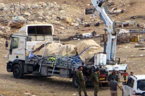 UN Coordinator for Aid to Palestinians Condemns Seizure of Tents from Khirbet al Hamma