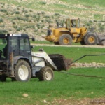 Israelis use Terex bulldozers to destroy water line