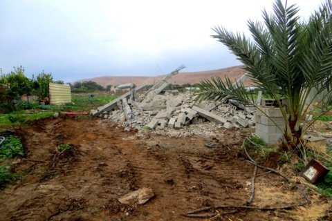 Family home demolished in Al Jiftlik